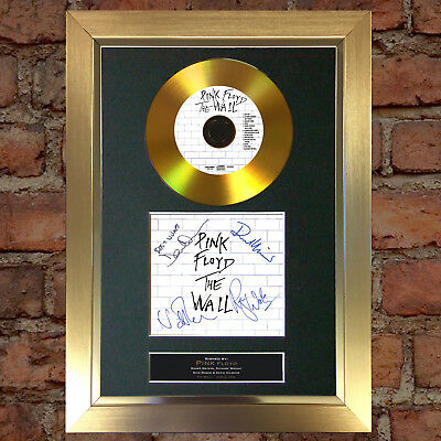 GOLD DISC PINK FLOYD The Wall Signed Autograph CD & Cover Mounted Print A4 115