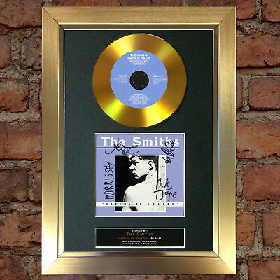 GOLD DISC THE SMITHS Signed Autograph CD & Cover Mounted Print A4 116