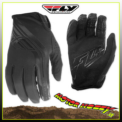 Guanti Off Road Cross Enduro Mtb Quad Fly Windproof Lite Nero Taglia Xs