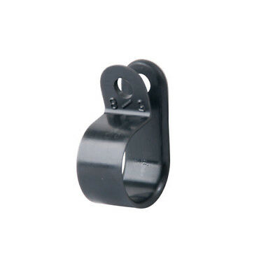 Black Nylon Cable Clamps, 1/2 Inch Width, 5/8 Inch Diameter - 100 Per Pack