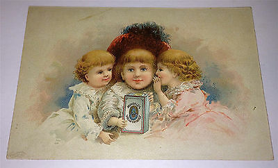 Antique Victorian Mundell's Solar Tip Shoes, Secrets! Old Advertising Trade Card