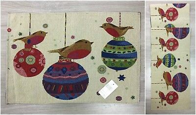 Rocking Robins Christmas Xmas Festive Party Table Runner Or Placemat