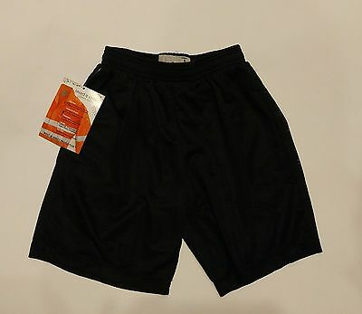 Sport-Tek Insect Shield Youth Black Athletic Sport Shorts SZ S - NEW