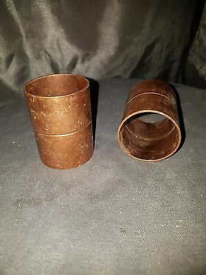 """1-1/2"""" COPPER COUPLING (W/STOPS)  COPPER PIPE lot of 2"""