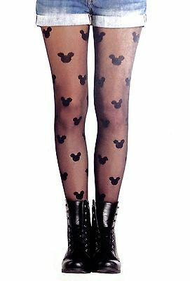 Disney Minnie Mouse Tights Fashion Mickey Mouse Stockings Halloween Cute NEW