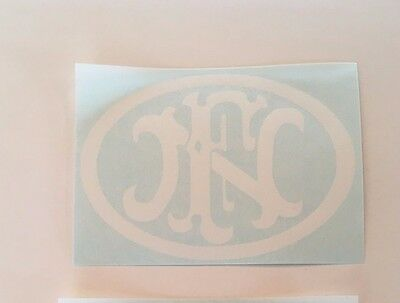 Pink Fabrique Nationale Herstal Crest Decal Authentic FN Sticker