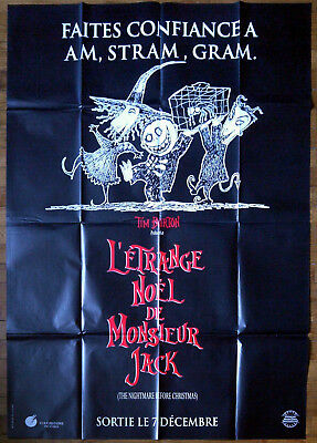 Nightmare Before Christmas In French.Nightmare Before Christmas Adv Am Stram Gram French Poster 47x63 Tim Burton 93