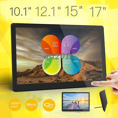 """10/12/15/17""""inch HD LED Digital Photo Picture Frame Clock/Music/Video/Movie/MP4"""