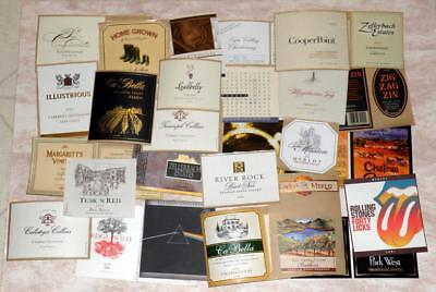 28 All Different California Wine Labels New Unused Lot