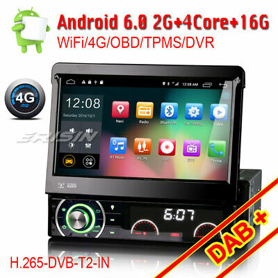 1DIN detachable Car GPS Stereo DVD NAVI Android 6.0 DAB+ DTV-IN 3G DVB-T 4G OBD2