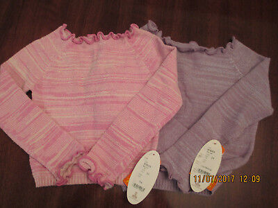 NWT Sansha Girls Warm Up Sweater for Dance, Ballet Size 4-7 Pink  or Lilac