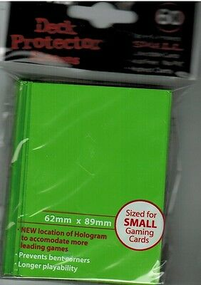 Yu-Gi-Oh! Yu Gi Oh YGO Small ULTRA PRO Card Sleeves 60 Ct SOLID LIME GREEN