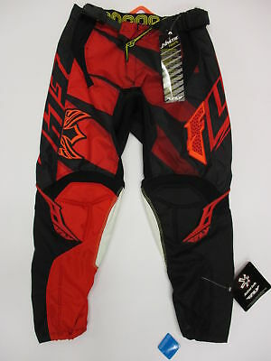 Fly Racing Kinetic Inversion Motorcross Pant size Youth 26 Red Black 366-23226