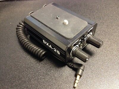 Beachtek DXA-2S Dual XLR Universal Two Microphone Compact Adapter for Camcorders
