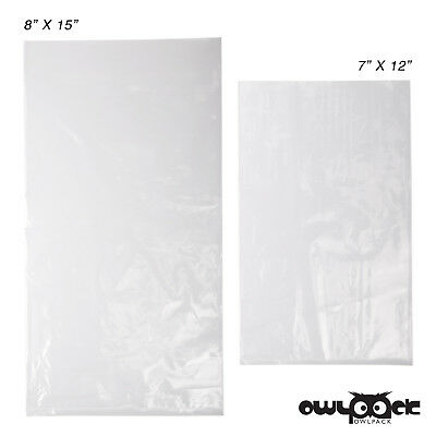 Multi Pack 7x12 8x15 1.5 mil Owlpack Poly Open End Bag -100 each size