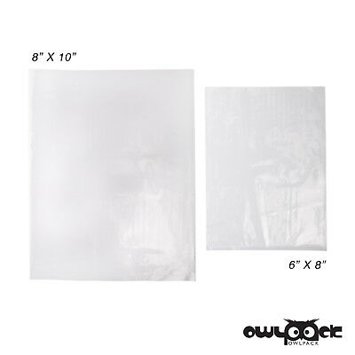 Multi Pack 6x8 8x10 2 mil Owlpack Poly Open End Plastic Bag -100 each size
