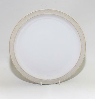 Denby Pottery Natural Canvas Pattern Dessert Plate 22cm Dia made in Stoneware