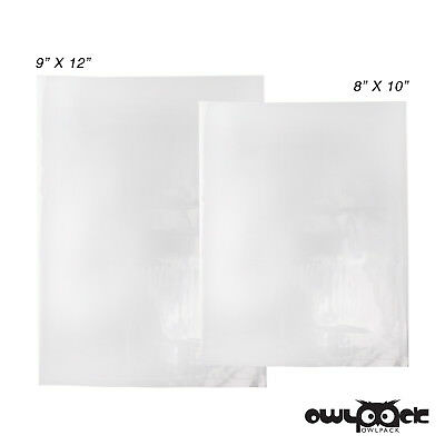 Multi Pack 8x10 9x12 2 mil Owlpack Poly Open End Plastic Bag -100 each size
