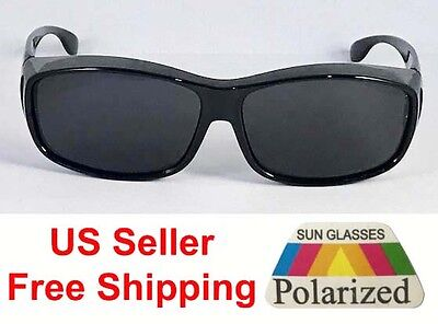 9a3ddd77b0bc 1 or 2 Pairs Polarized Fit Over Sunglasses Cover Wrap Driving Anti Glare