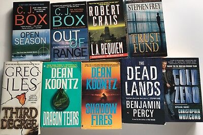 Lot of 9 PB Mysteries Thrillers VG to New Cond C.J. Box Crais Iles Koontz Percy