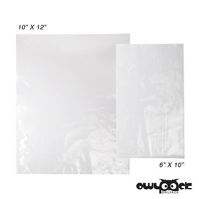 Multi Pack 6x10 10x12 2 mil Owlpack Poly Open End Plastic Bag -100 each size