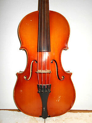 "Vintage Old Antique ""Stradivarius"" 2 Pc Back Viola - No Reserve"