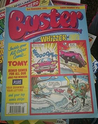 BUSTER with Whizzer & Chips comic - 2nd Feb 1991