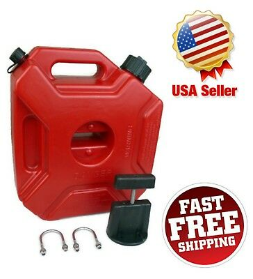 1.3 Gallon 5L Gas Spare Container Fuel Pack Can with Mounting Kit ATV UTV