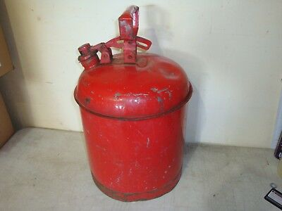 Vintage Eagle FM Safety Fuel Can Gas Container Red 5 Gallon Capacity(TM)