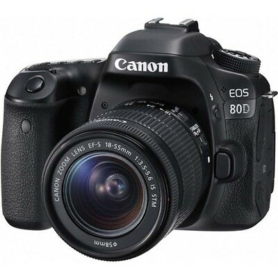 Canon EOS 80D Digital Camera Kit with 18-55mm STM Lens
