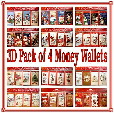 1 4 OR 6 DELUXE MONEY WALLETS 3 FOLD Traditional Contemporary Kids Money Voucher