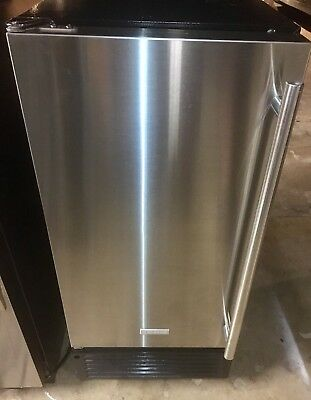 "Jenn Air Stainless Steel 15"" Under Counter Built In Marvel Ice Machine"