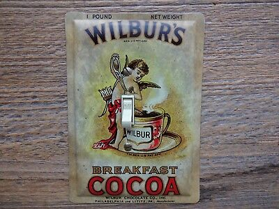 Switch Plate Made From A Wilburs Cocoa Tin For Wilbur Kitchen Decor Switchplate