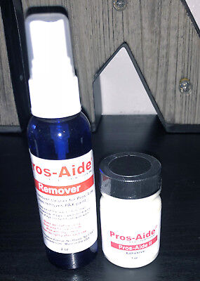 Professional Special Effects Makeup Artist Adhesive Pros-Aide II 1 oz + Remover