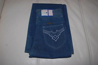 1970's Young Maverick Jeans, Girls Size 10 Slim Orig Tags Flare Leg Fancy Pocket