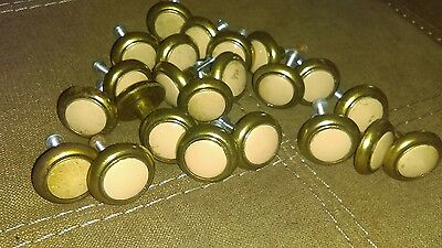 23 Sets Antique Brass Amerock 63857-10 Knobs Pulls vintage