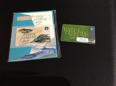 Starbucks Happy Father Day Gift Card -- Set Of 2 Pcs. -- New
