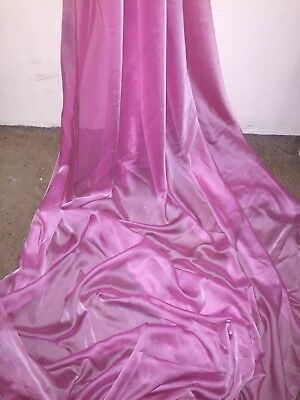 "1 Mtr Pink Cationic Two Tone Sheer Bridal,dress Chiffon Fabric ..58"" Wide"