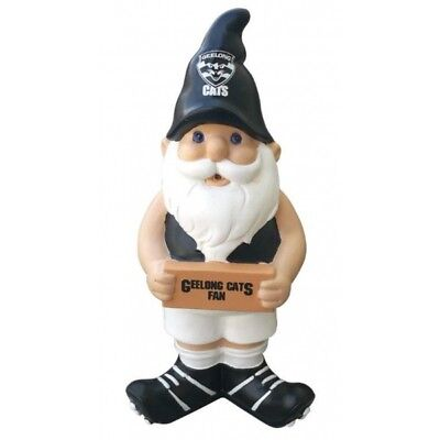 Geelong Cats Official AFL Garden Gnome Ornament with Sign