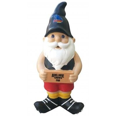 Adelaide Crows Official AFL Garden Gnome with Sign