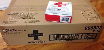 "24 Boxes Johnson & Johnson Hospital Grade Gauze  3x3"" 10 pack medical supplies"