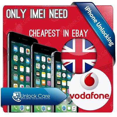 IPHONE ONLY IMEI NEED  6  & 6S PLUS VODAFONE UK UNLOCK SERVICE All Device 🇬🇧