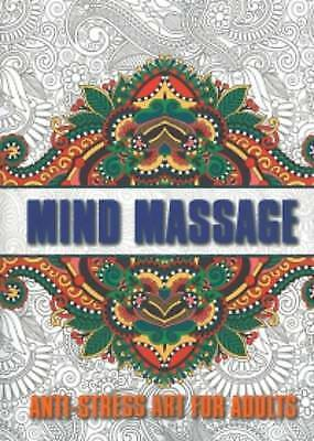 Mind Massage Colouring for Adults Paperback Book  *Free Shipping*