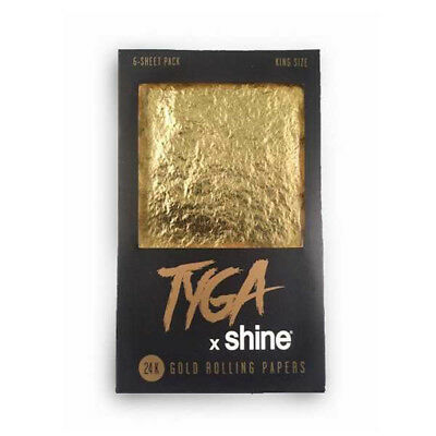 Shine x Tyga 24K Gold King Size Rolling Papers 6 Sheet Pack