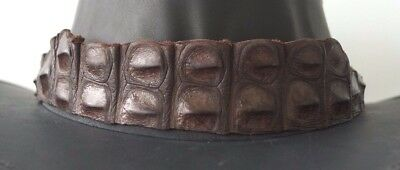 Crocodile Leather HAT BAND Stunning Piece EXTRA LONG 1OO cm  Brown
