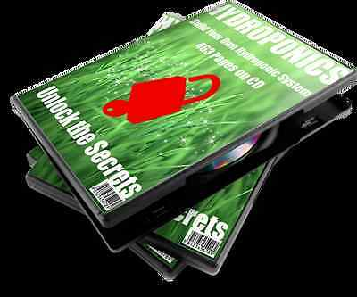 HYDROPONICS Build Your Own Hydroponic System, 463 pages on CD, Fast Shipping.