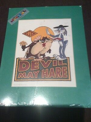 Looney tunes Devil May Hare Lithographic Print 1994