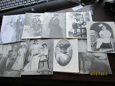 9 Note cards African America Antique Poses w Recipes Black Victorian COYAZO