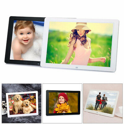 "15"" HD 1080P LED Digital Photo Picture Frame Movie MP4 Player Remote Control"