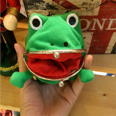Naruto Kunai Ninja Weapon Frog Shape Cosplay Coin Purse Wallet Soft Furry Gift#A